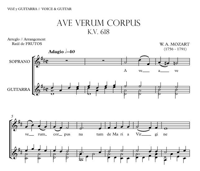 Ave Verum Corpus W A Mozart Free Guitarraul
